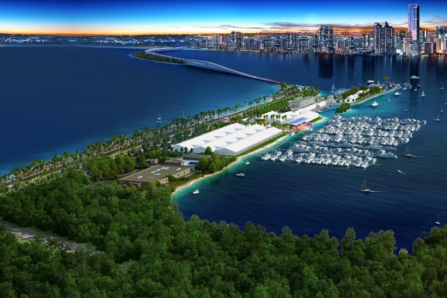 Miami international boat show location banner